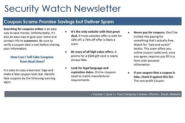Security Awareness Newsletter